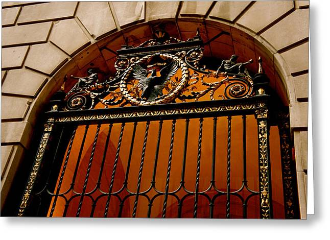 Ornate Arched Door Greeting Card