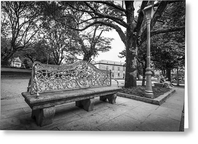 Ornate Bench Greeting Card
