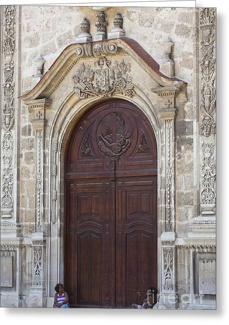 Ornate Door Greeting Card by Chris Dutton