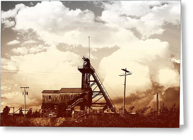 Greeting Card featuring the photograph Orphan Girl Mine  by Kevin Bone