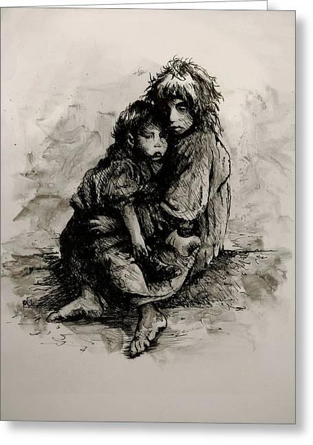 Orphans Greeting Card