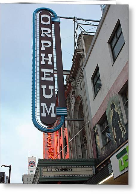 Orpheum Theatre Greeting Card