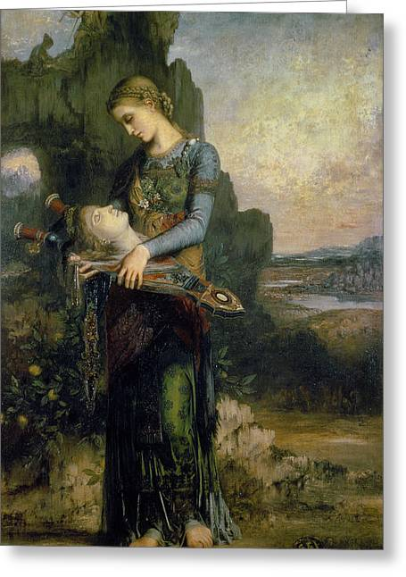 Orpheus, 1865 Oil On Canvas Greeting Card by Gustave Moreau