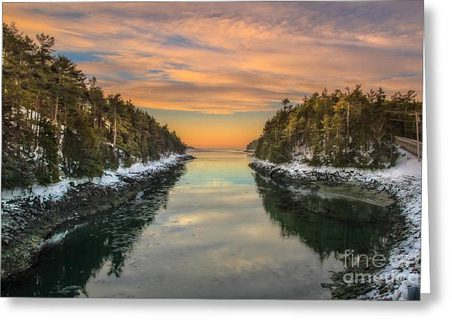 Orrs Island Maine Greeting Card by Brenda Giasson