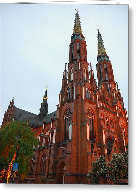Greeting Card featuring the photograph St. Florian's Cathedral by Steven Richman