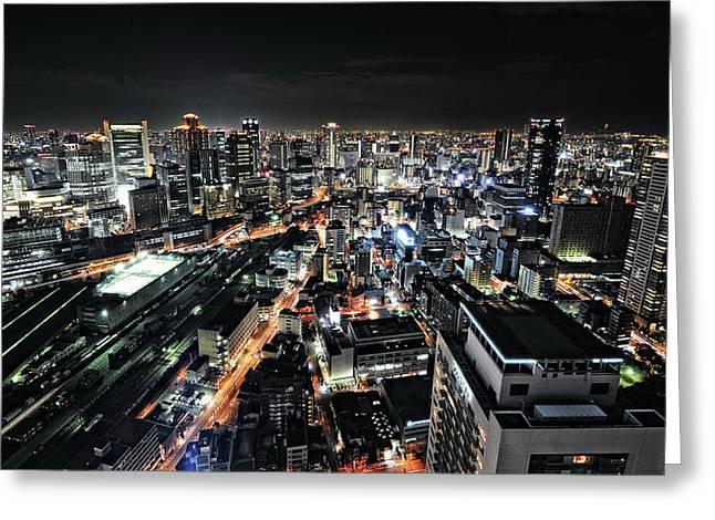 Osaka Night View Greeting Card
