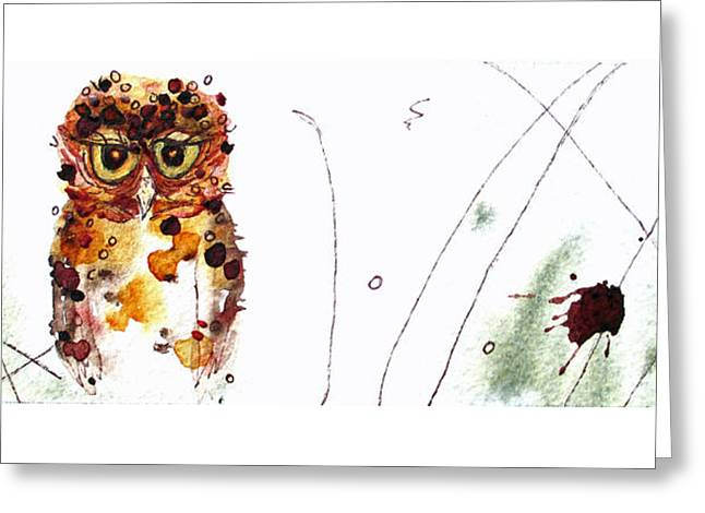 Oscar Greeting Card by Dawn Derman