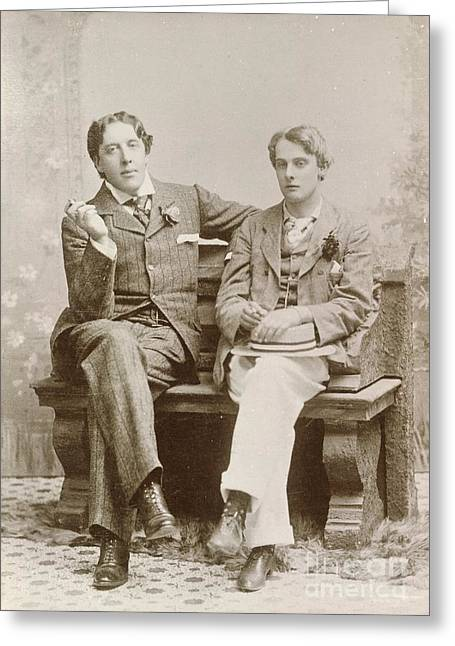 Oscar Wilde And Alfred Douglas, 1893 Greeting Card by British Library