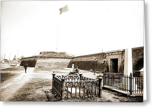 Osceolas Grave, Fort Moultrie, Charleston Greeting Card by Litz Collection