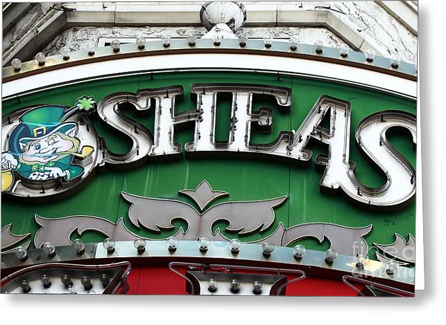 O'sheas Greeting Card by John Rizzuto
