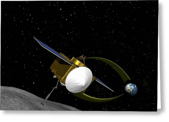 Osiris-rex Asteroid Mission Greeting Card by Nasa/goddard/university Of Arizona