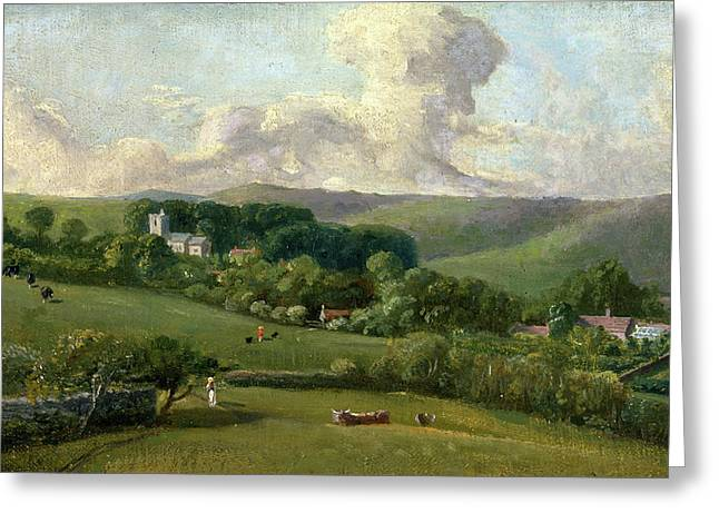 Osmington A View To The Village, John Fisher Greeting Card by Litz Collection