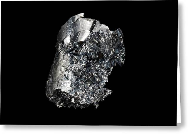 Osmium Greeting Card by Science Photo Library