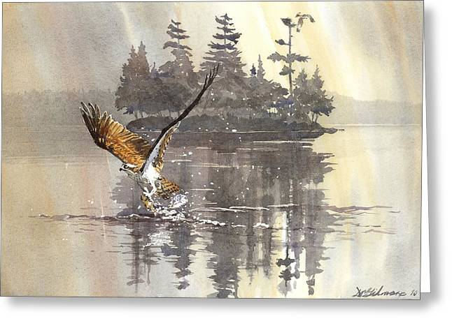 Osprey Hunting No.2 Greeting Card