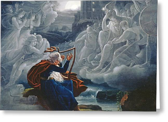 Ossian Conjures Up The Spirits On The Banks Of The River Lorca Greeting Card