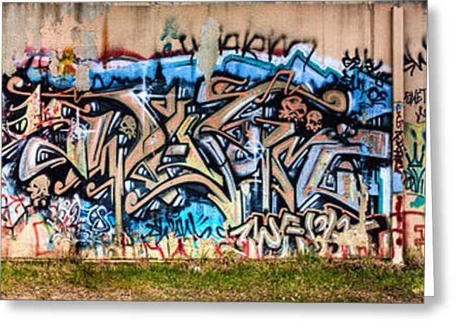 Osu Graffiti Greeting Card by Jacob Brewer