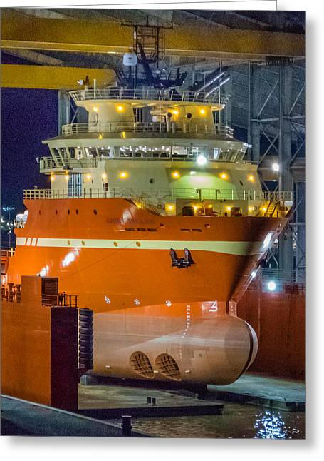 Osv In Port Fourchon Drydock Greeting Card