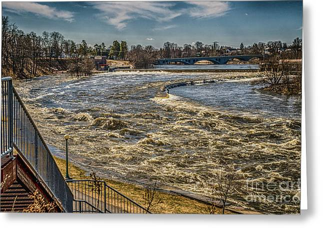 Oswegatchie River Flooding Greeting Card