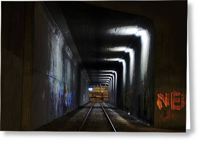 Other Side Of The Tunnel Greeting Card by EXparte SE