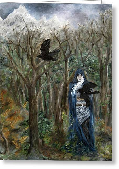 The Raven God Greeting Card