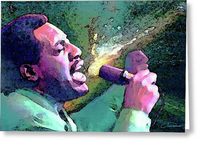 Otis Redding Greeting Card by John Travisano