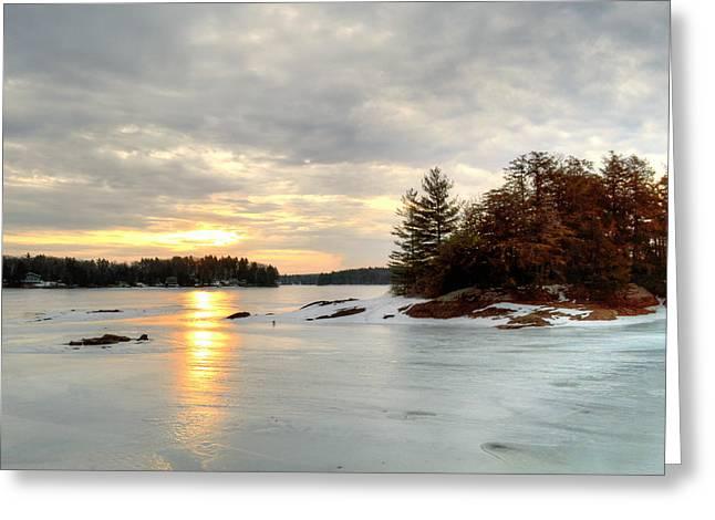 Otis Reservoir Sunrise No. 2 Greeting Card