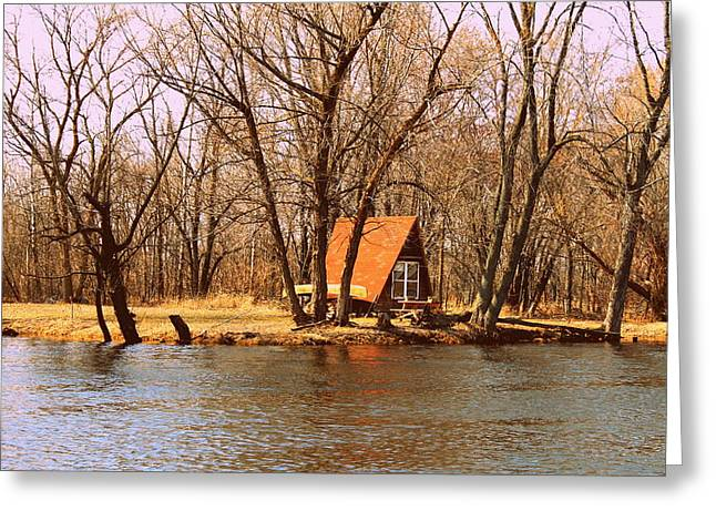 ottage oh the Fox River Greeting Card by Victoria Sheldon