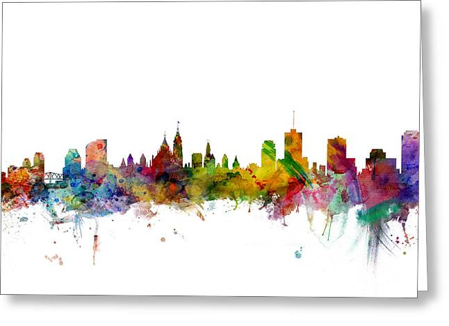 Ottawa Canada Skyline Greeting Card