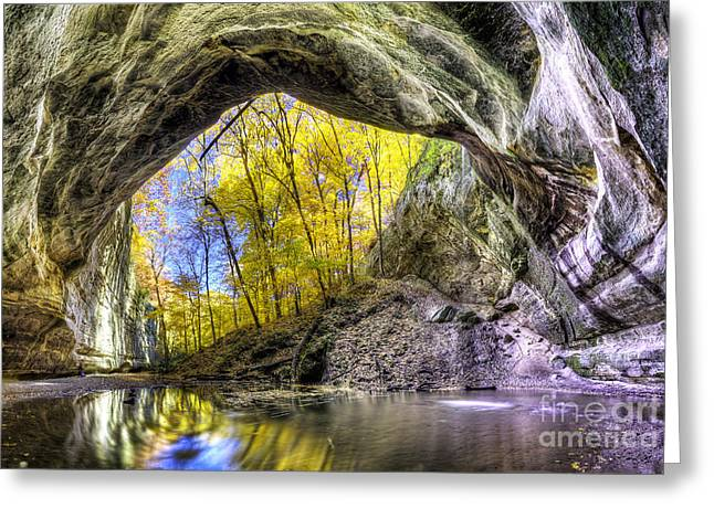 Ottawa Canyon At Starved Rock State Park Greeting Card by Twenty Two North Photography