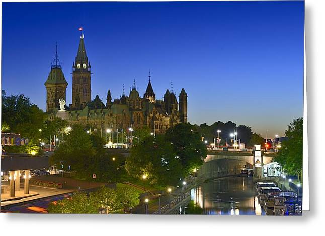 Ottawa Downtown Dusk Greeting Card