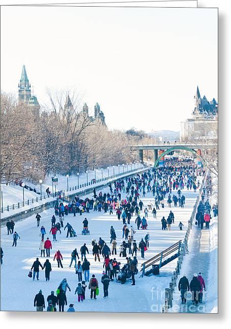 Ottawa Rideau Canal Greeting Card by Cheryl Baxter