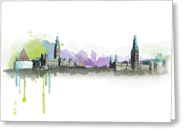 Ottawa Skyline 18 Greeting Card by Mahnoor Shah