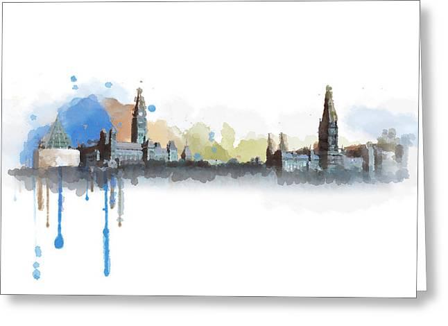 Ottawa Skyline 18b Greeting Card by Mahnoor Shah