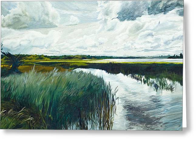 Otter Tail River From Bridge Greeting Card