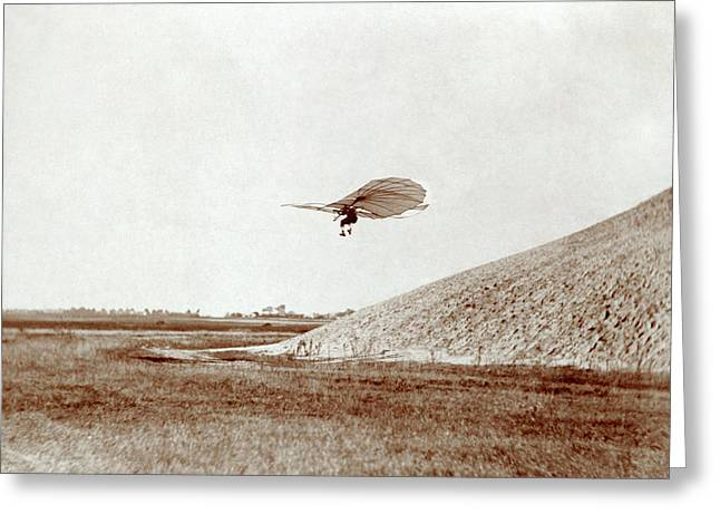 Otto Lilienthal Gliding Experiment Greeting Card