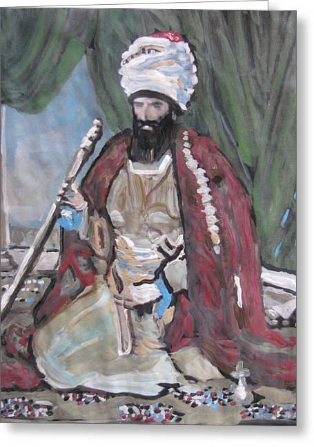 Greeting Card featuring the painting Ottoman Empire by Vikram Singh