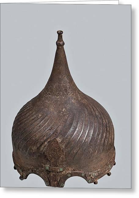 Ottoman Steel Helmet Greeting Card by Photostock-israel