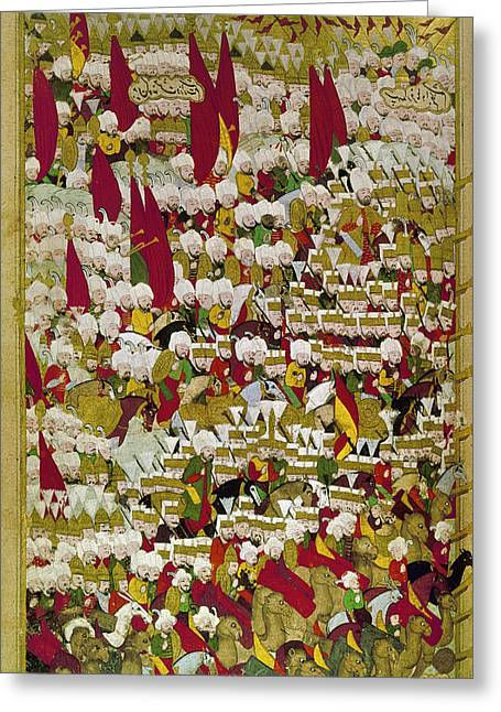 Ottoman Troops, 1526 Greeting Card by Granger