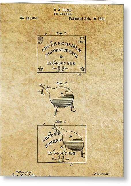 Ouija Board Patent Art 1 -- 1891 Greeting Card