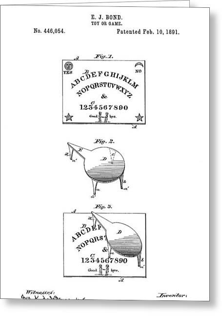 Ouija Board Patent Art -- 1891 Greeting Card