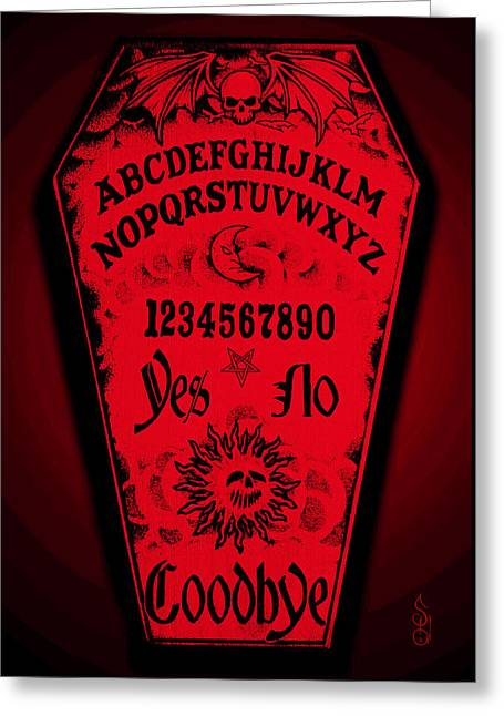 Ouija Coffin Greeting Card