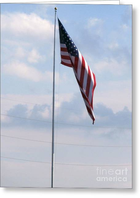 Our Flag Greeting Card by Joseph Baril