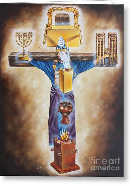 Our High Priest Greeting Card by Ilse Kleyn