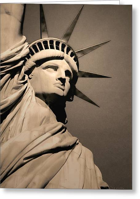 Our Lady Liberty Greeting Card by Dyle   Warren