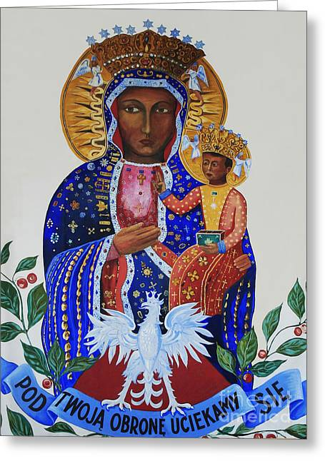 Our Lady Of Czestochowa Greeting Card by Barbara McMahon