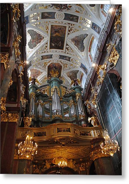 Our Lady Of Czestohowa Basilica Interior Greeting Card