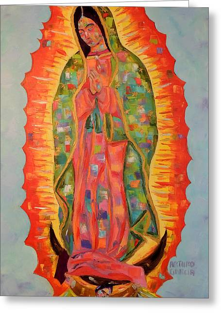 Our Lady Of Guadalupe Greeting Card by Arturo Garcia