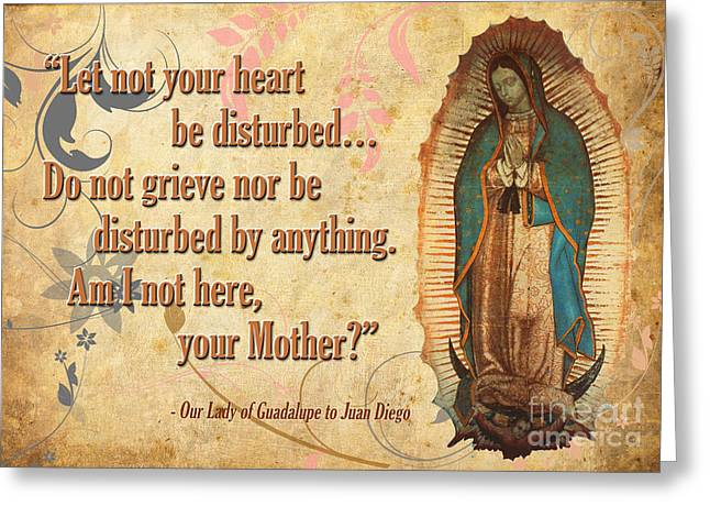 Our Lady Of Guadalupe Greeting Card by Flamingo Graphix John Ellis