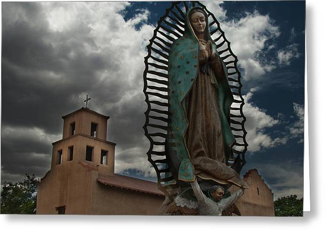 Our Lady Of Guadalupe Greeting Card by Julie VanDore