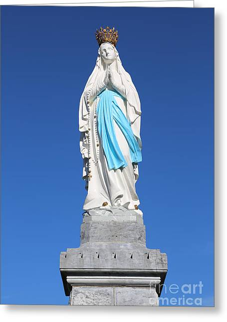 Our Lady Of Lourdes Statue 2 Greeting Card by Carol Groenen